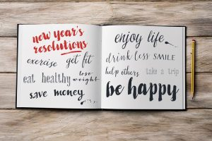 New Year's resolutions journal