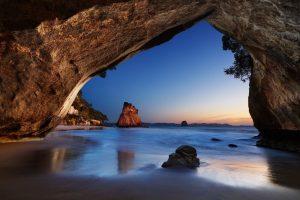Cove ocean cave in New Zealand